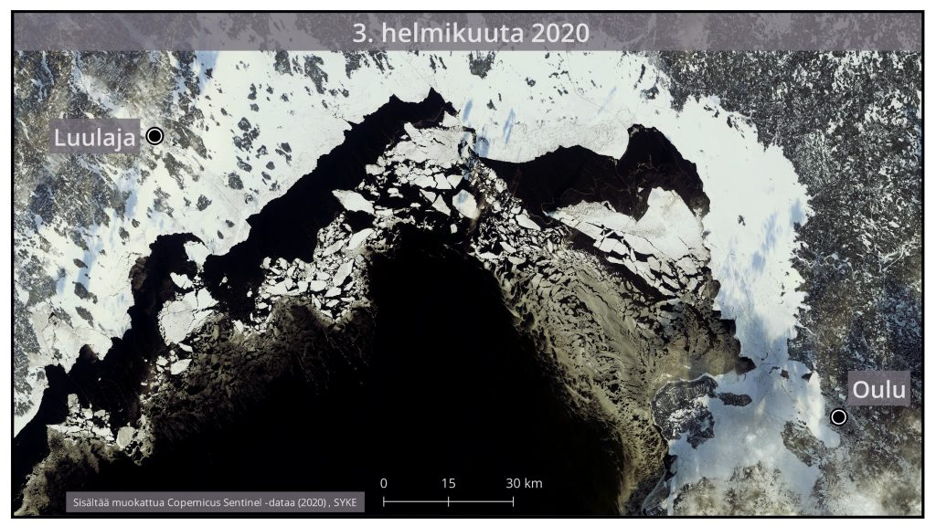Jäätilanne Satelliittikuva