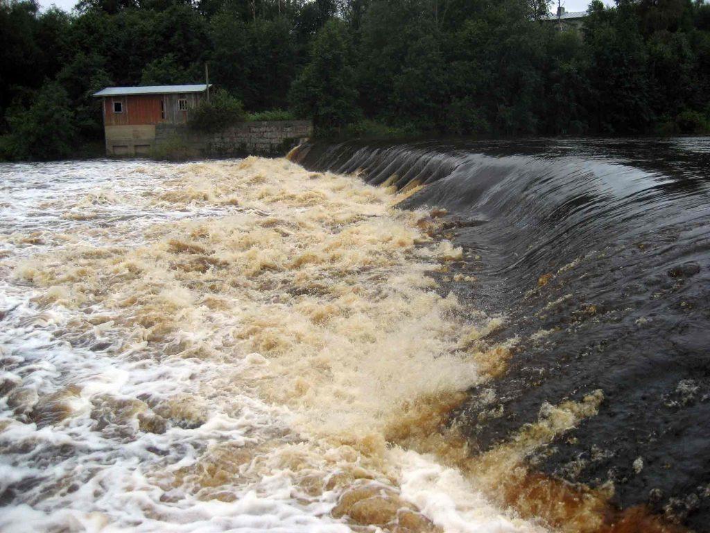 Kyrönjoen veden väri kertoo, että siinä on runsaasti humusta.