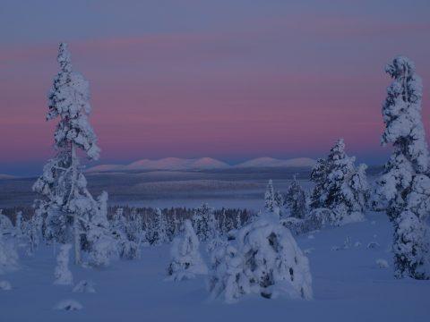 Pallastunturilla on mittausten mukaan maailman puhtain ilma. Kuva A. Bagge
