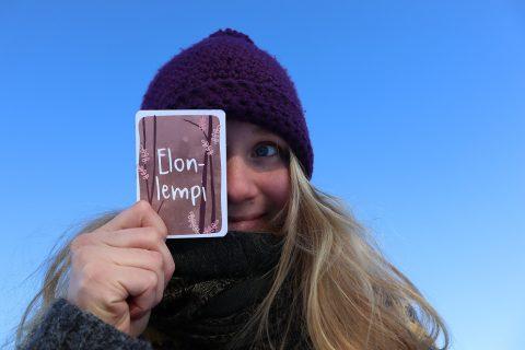 Elsa Lankinen ja elonlempi -tunnesanakortti